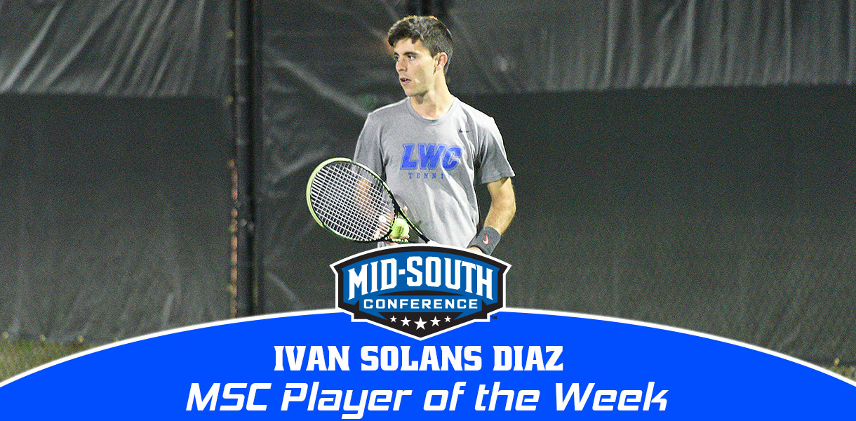 Photo for Ivan Solans Diaz collects MSC Men's Tennis Player of the Week honors