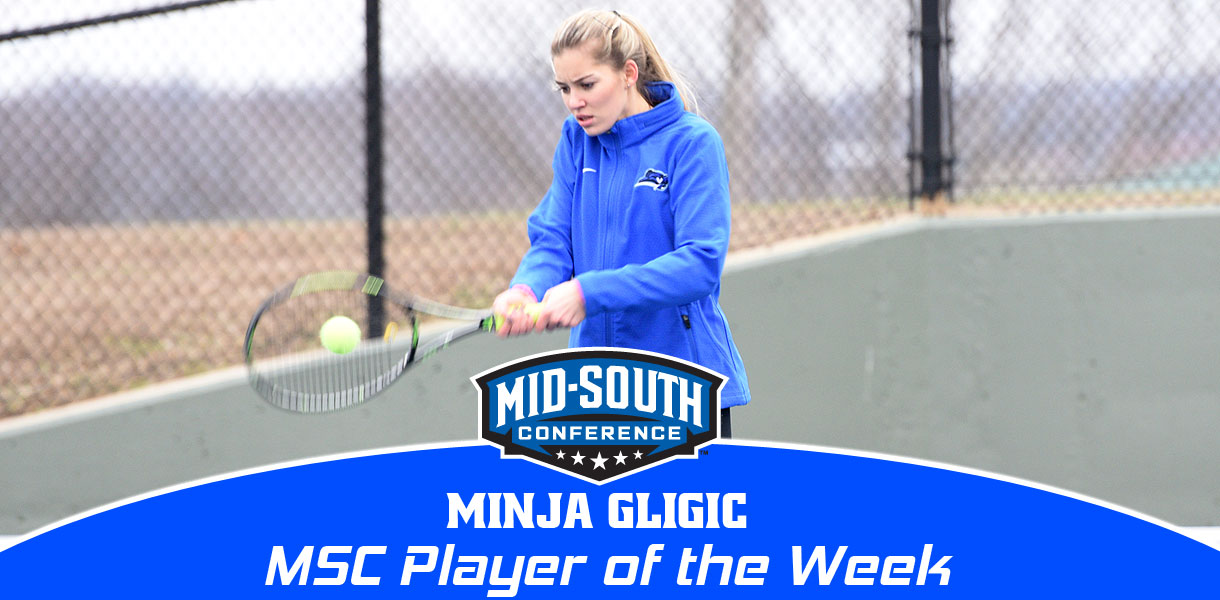 Photo for Minja Gligic named MSC Women's Tennis Player of the Week