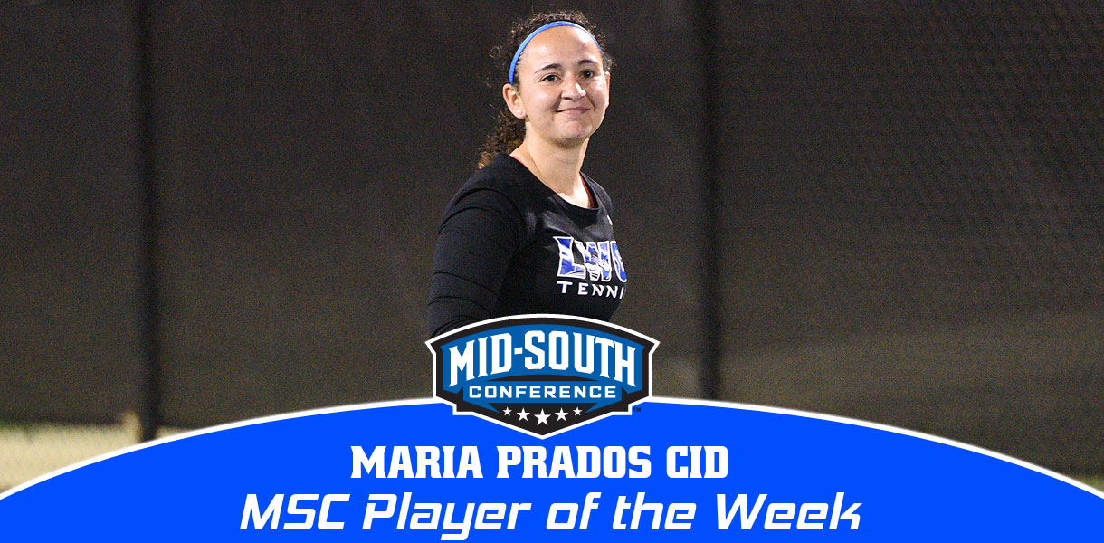 Photo for Maria Prados Cid earns second MSC Women's Tennis Player of the Week honor this season