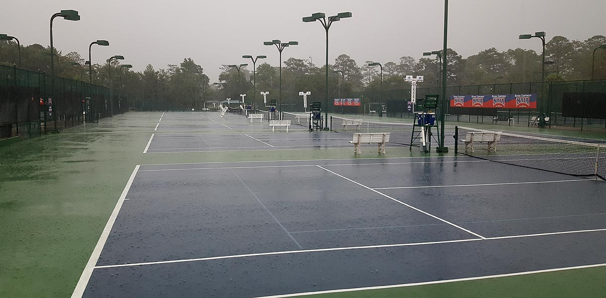 Photo for Women's Tennis National Championship postponed until Sunday at 8 a.m. CT