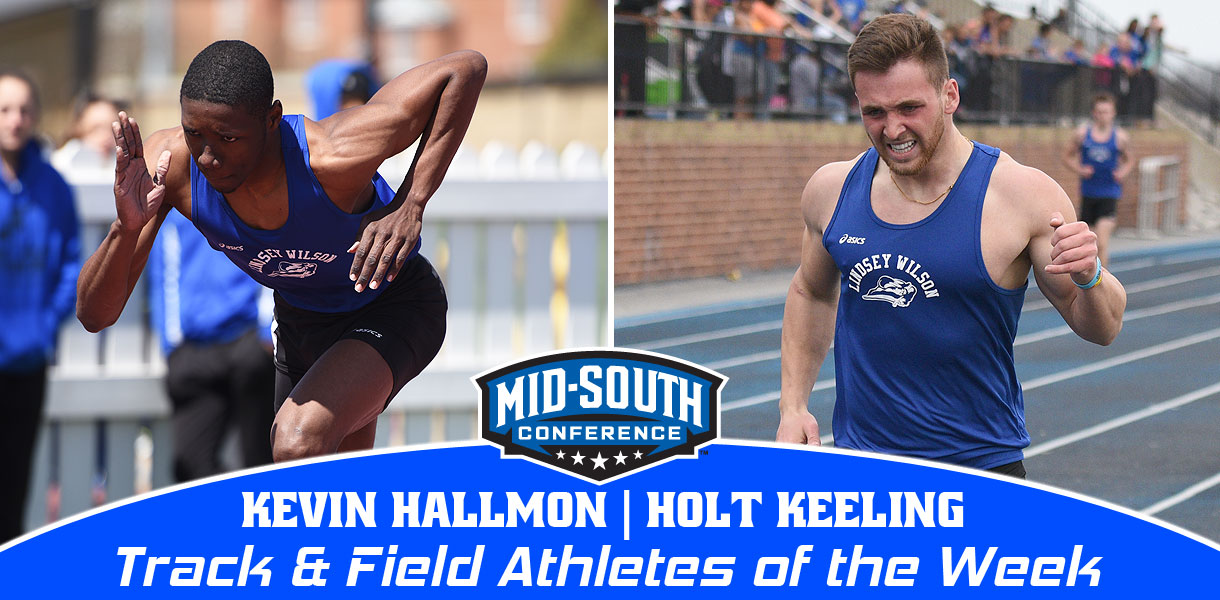 Photo for Hallmon and Keeling sweep MSC Men's Track & Field Athlete of the Week honors