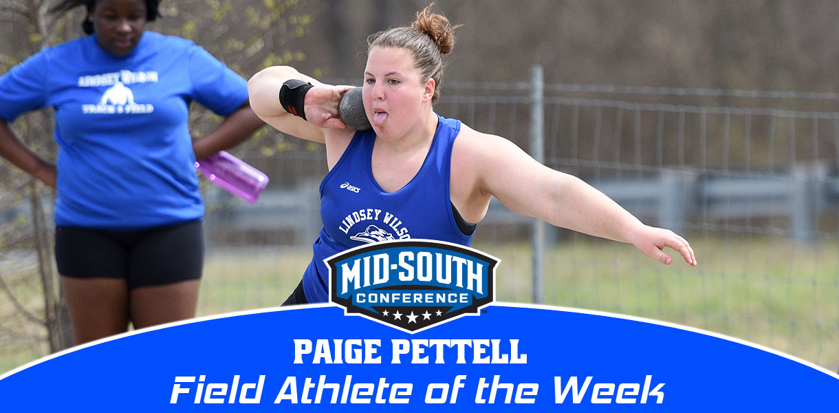 Photo for Pettell claims MSC Field Athlete of the Week accolades