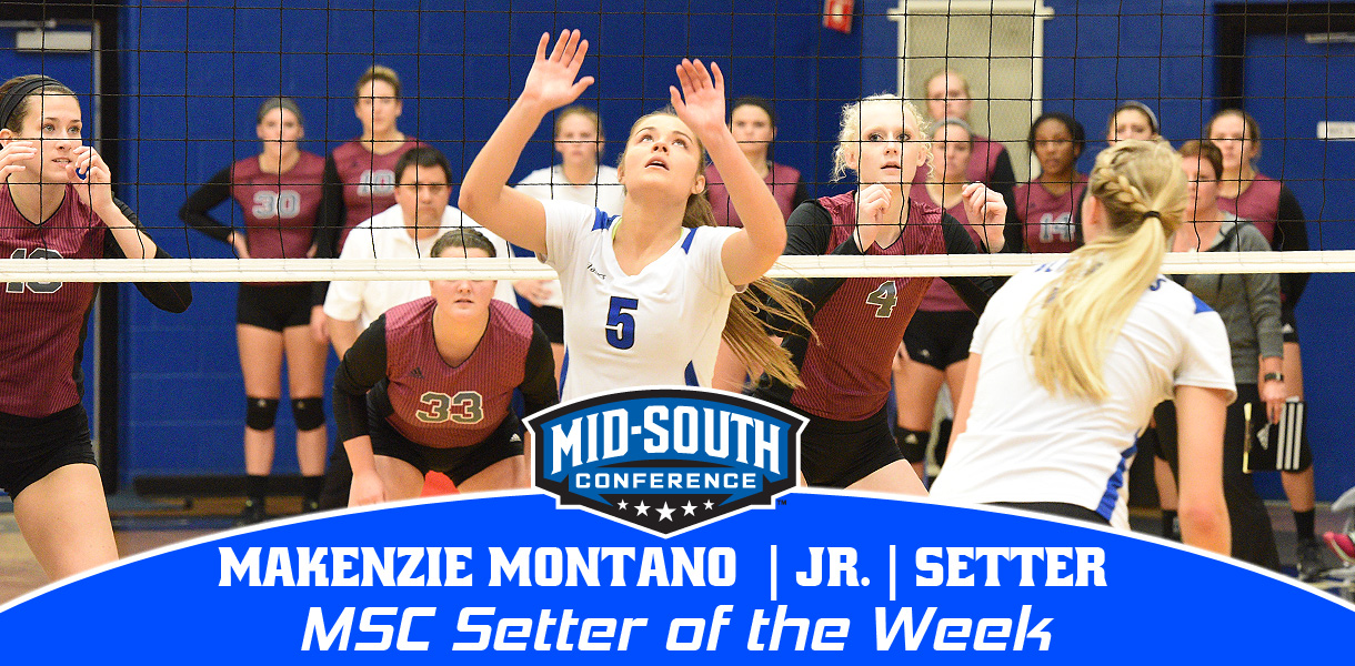 Photo for Montano earns MSC Volleyball Setter of the Week honors