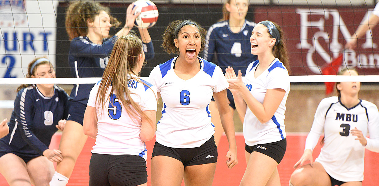 Photo for Volleyball defeats Missouri Baptist 3-1 to move into NAIA National Quarterfinals