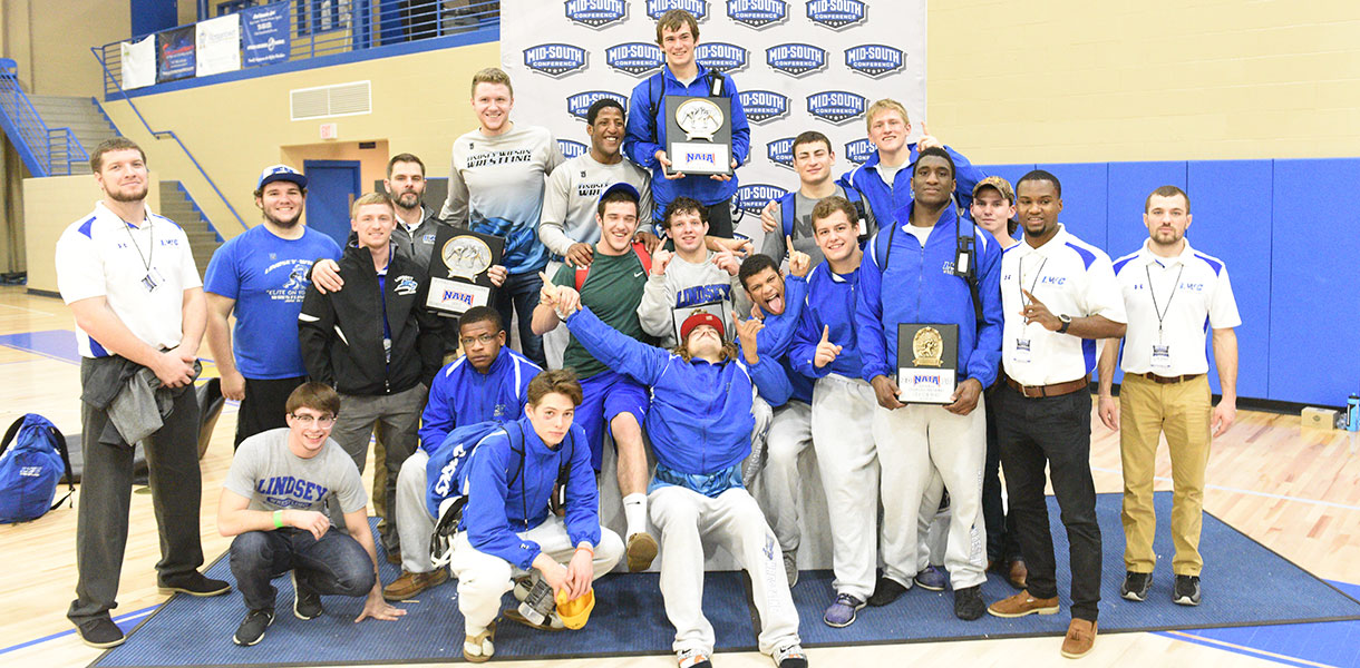 Photo for Wrestling wins MSC Tournament Championship; Five Blue Raiders claim individual titles