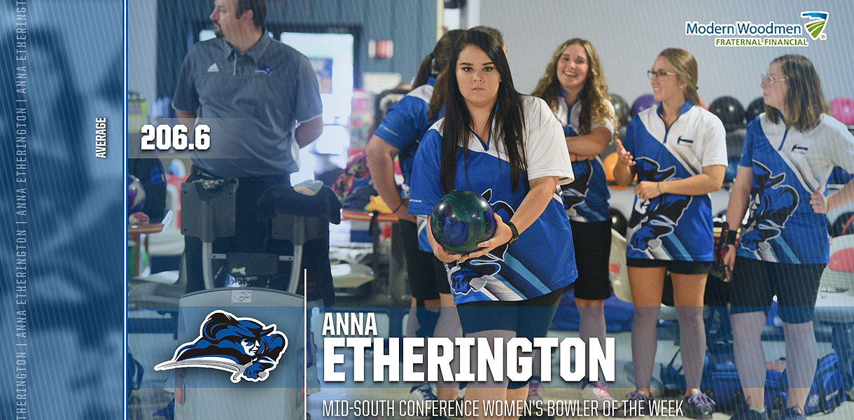 Photo for Etherington collects Mid-South Conference Women's Bowler of the Week honors
