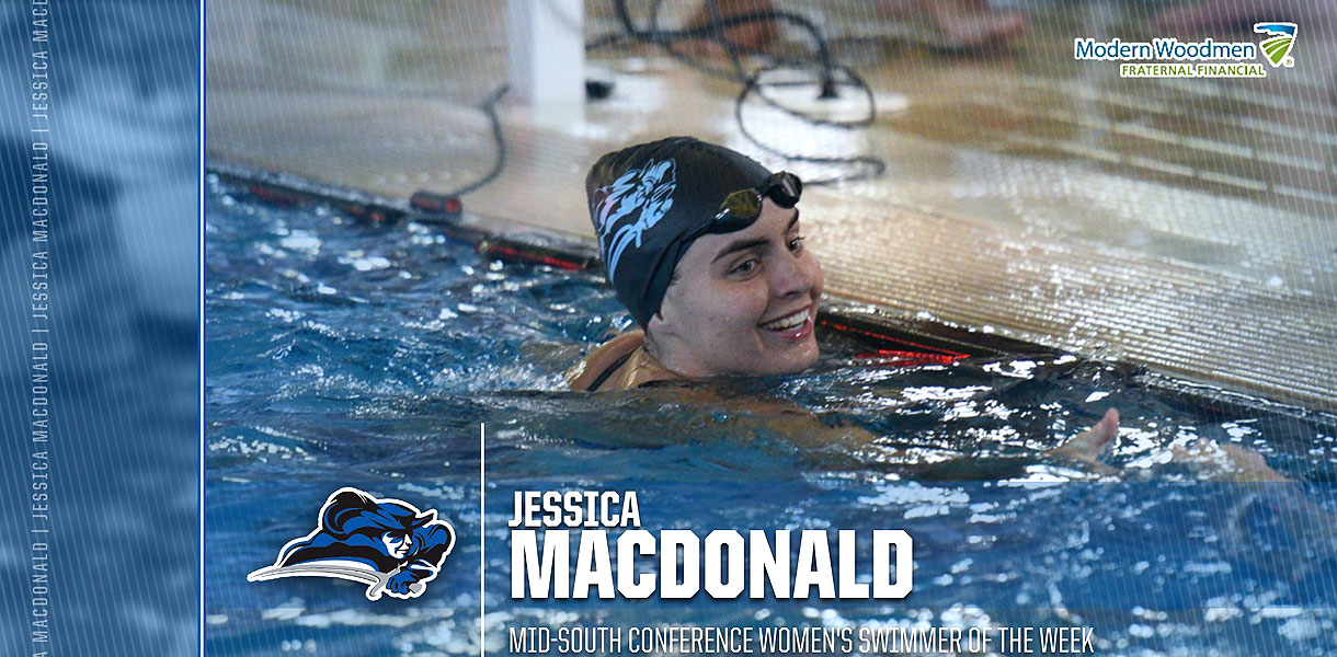 Photo for Macdonald named MSC Women's Swimmer of the Week