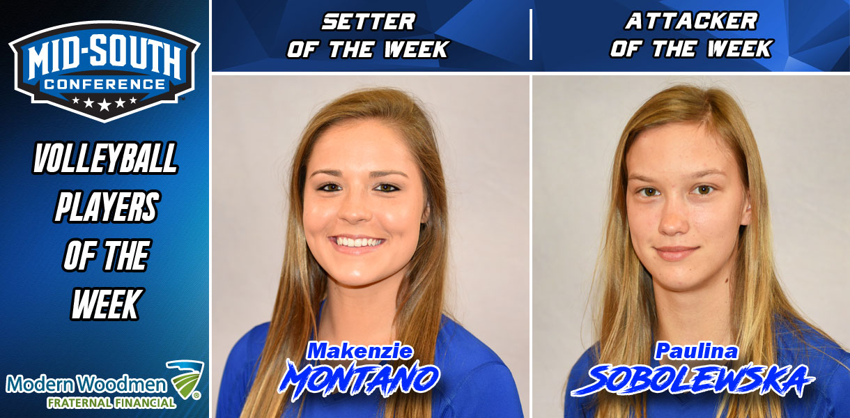 Photo for Montano and Sobolewska earn MSC Volleyball Player of the Week honors