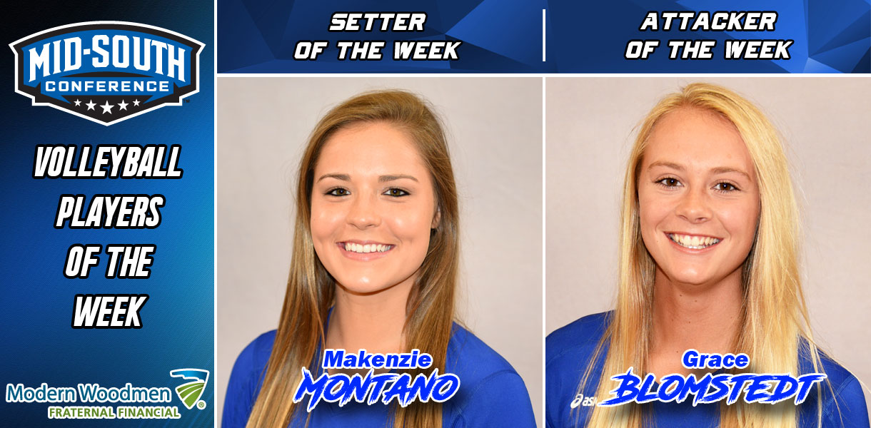 Photo for Montano and Blomstedt pick up MSC Volleyball Player of the Week honors